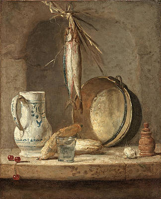 Still Life with Herrings Print by Jean-Simeon Chardin