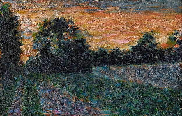 Sunset Print by Georges Seurat