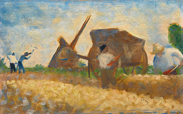 Terrassiers, The Stone Breakers Print by Georges Seurat