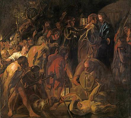 The Betrayal of Christ Print by Jacob Jordaens