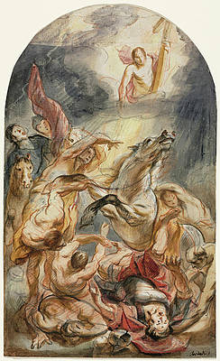 The Conversion of Saul with Christ and the Cross Print by Jacob Jordaens