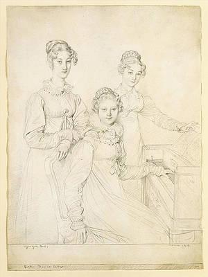 The Kaunitz Sisters, Leopoldine, Caroline, and Ferdinandine Print by Jean-Auguste-Dominique Ingres