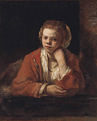 The Kitchen Maid Print by Rembrandt