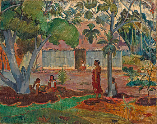 The Large Tree Print by Paul Gauguin