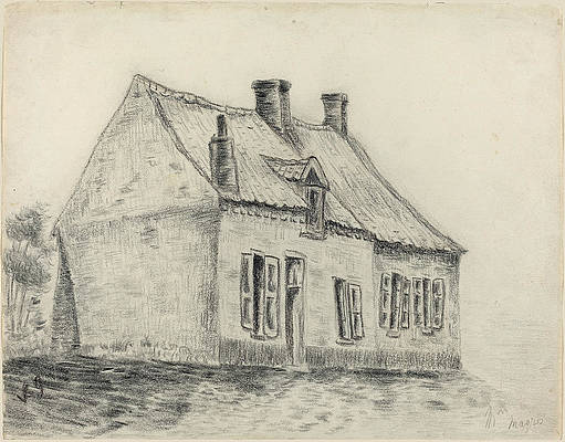 The Magrot House, Cuesmes Print by Vincent van Gogh