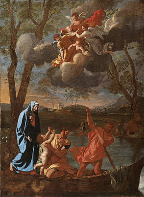 The Return of the Holy Family to Nazareth Print by Nicolas Poussin