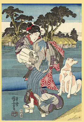 The Toi Tama River in Settsu Province Print by Utagawa Kuniyoshi