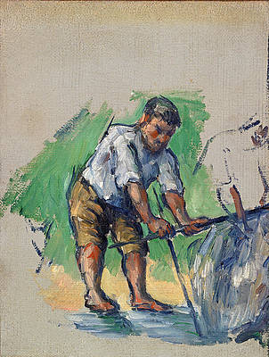 The Well Driller Print by Paul Cezanne