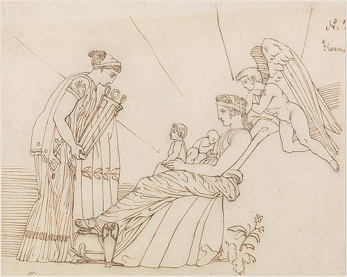 To Phoebus at His Birth, From Aeschylus, Furies Print by John Flaxman
