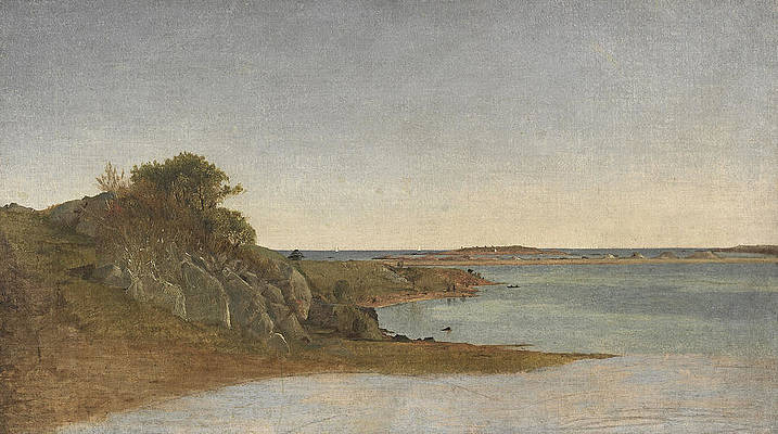 View near Newport Print by John Frederick Kensett