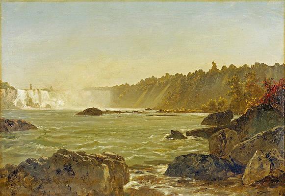 View of Niagara Falls Print by John Frederick Kensett