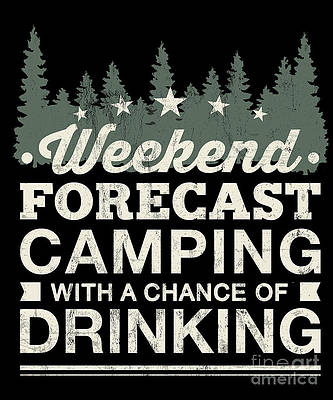 Tank Top Pures Designs Weekend Forecast Camping with A Chance of Drinking
