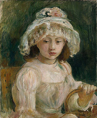 Young Girl with Hat Print by Berthe Morisot