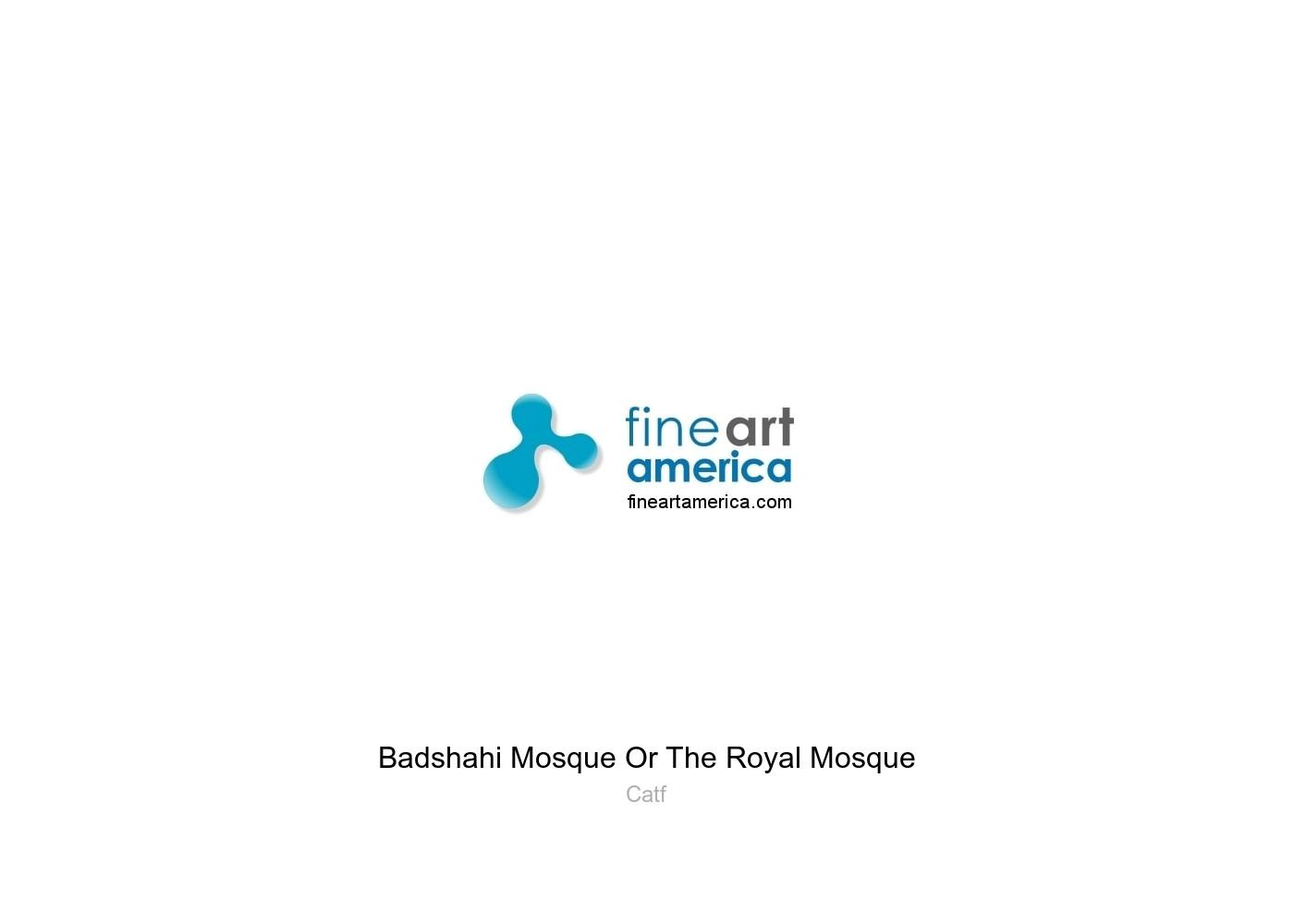 Badshahi Mosque Or The Royal Mosque Greeting Card