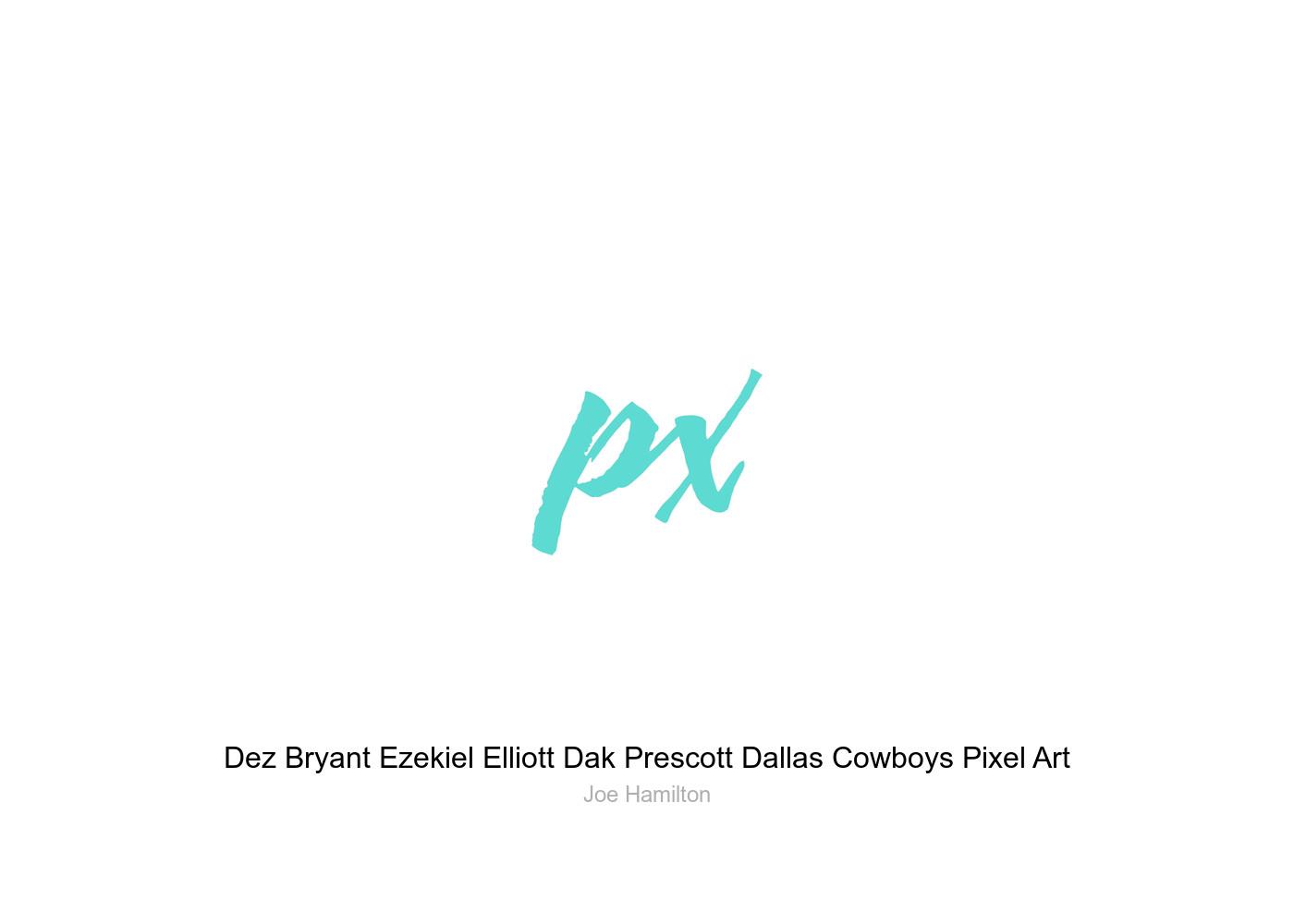8122561b698f08 Dez Bryant Ezekiel Elliott Dak Prescott Dallas Cowboys Pixel Art ...
