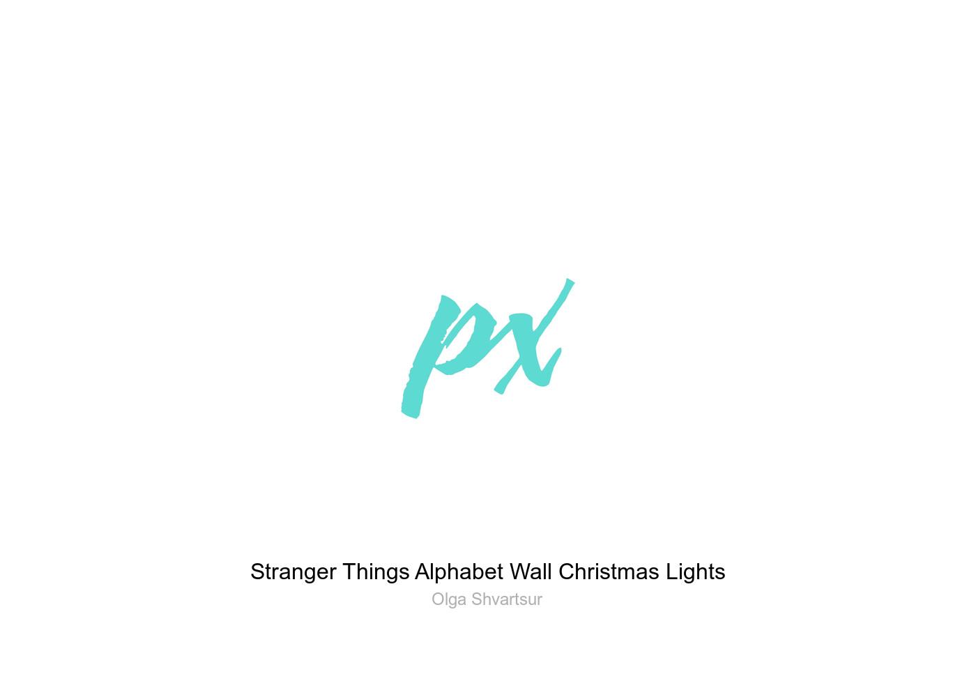 Christmas Lights Stranger Things.Stranger Things Alphabet Wall Christmas Lights Greeting Card