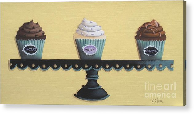 Art Acrylic Print featuring the painting Classic Cupcakes by Catherine Holman