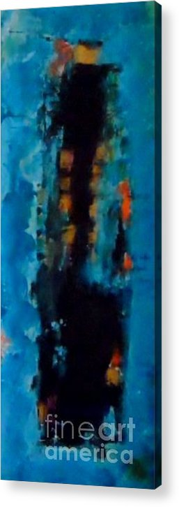 Acrylic Print featuring the painting Dancing 1 by Daniela Hallgren