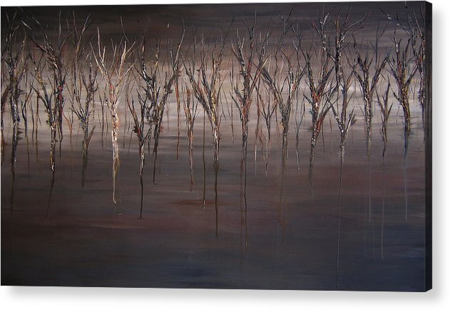 Tress Acrylic Print featuring the painting Disappearing by Kim Wild