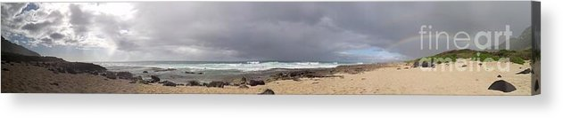 Oahu Acrylic Print featuring the photograph Double Rainbow by Chandelle Hazen