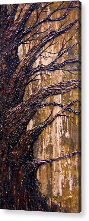 Trees Acrylic Print featuring the painting Fall by Kim Wild