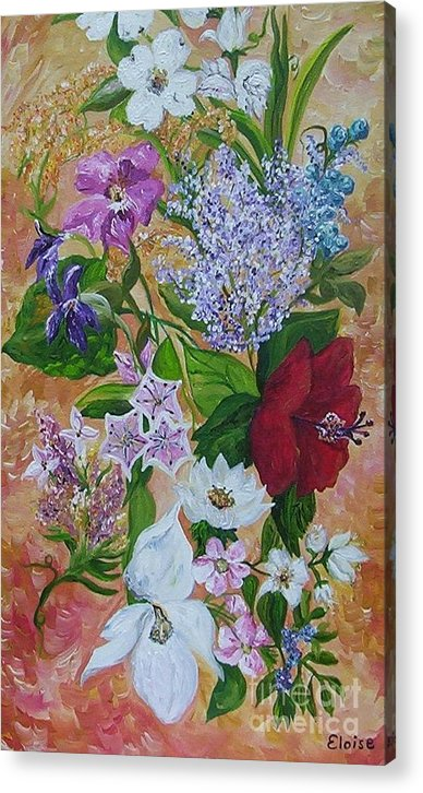 Flowers Acrylic Print featuring the painting Garden Delight by Eloise Schneider