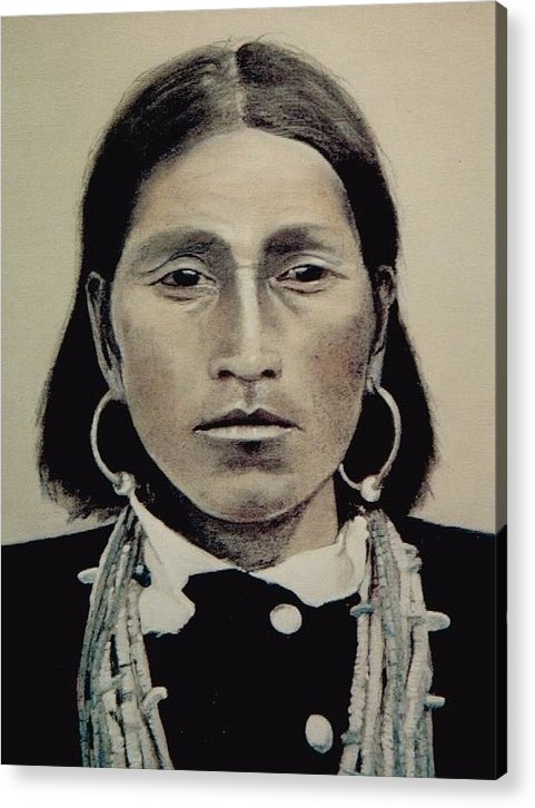 Hopi Acrylic Print featuring the painting Hopi Woman Of The First Light by Terri Ana Stokes