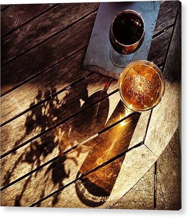 Cheers Acrylic Print featuring the photograph It's Wine And Beer O'clock by Nic Squirrell