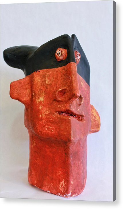 Plaster Acrylic Print featuring the sculpture Mum No.16 Bandido No. 3 by Mark M Mellon