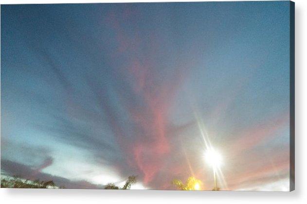 Sky Evening Nature Acrylic Print featuring the photograph Skylight by Bridgett Brumbaugh