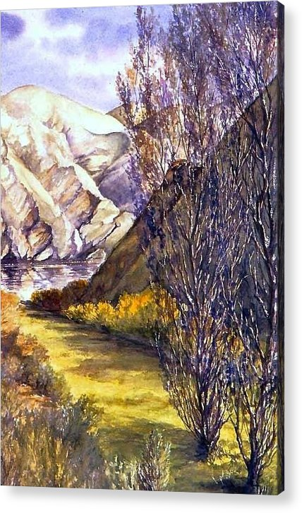 Oregon Acrylic Print featuring the painting Snake River Landing by Lynne Wright