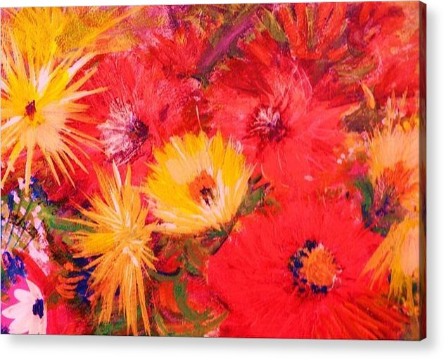 Splashy Acrylic Print featuring the painting Splashy Floral II by Anne-Elizabeth Whiteway