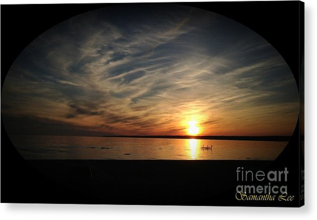 Acrylic Print featuring the photograph Sunset by Samantha Lindow