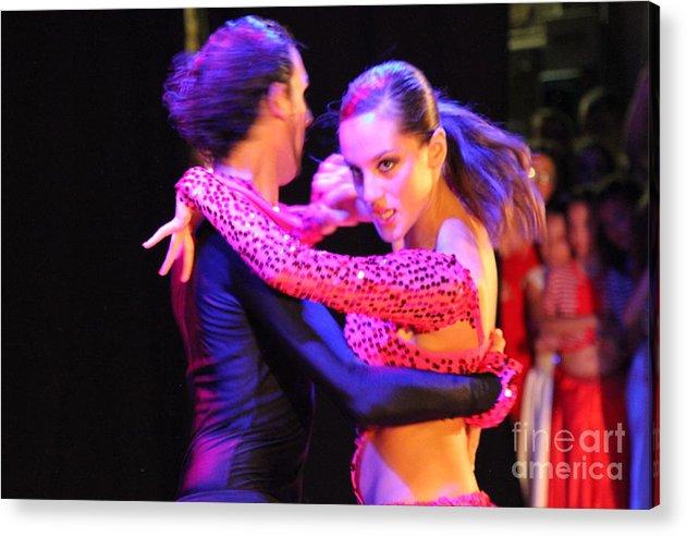 Tango Acrylic Print featuring the photograph Tango Dancers by Stefano Berti