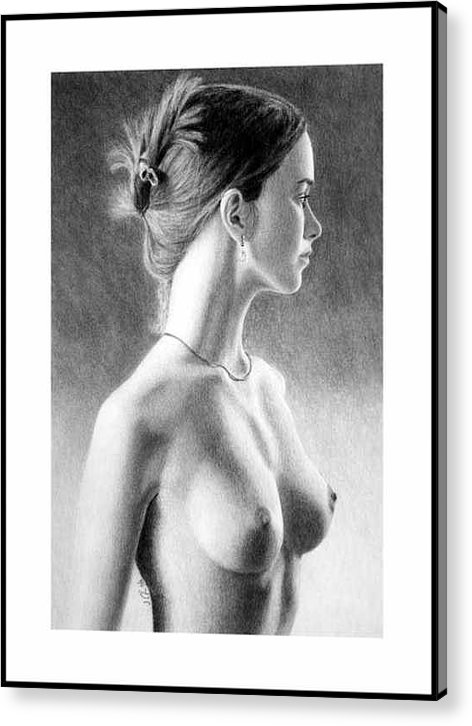 Pastel Acrylic Print featuring the painting The Girl With The Glass Earring by Joseph Ogle