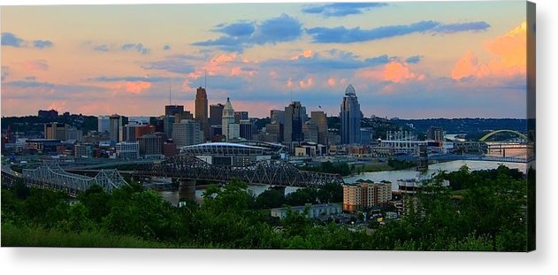 Cincinnati Ohio Acrylic Print featuring the photograph Cincinnati by Wesley West