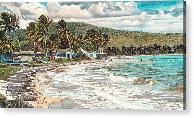 Scenery Acrylic Print featuring the painting The Water Front  by Gregory Jules