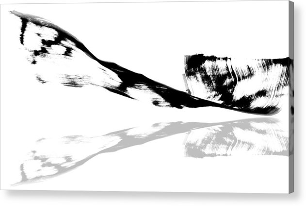 Abstract Acrylic Print featuring the painting Abstract China Ink Paintings by Arts of Chet