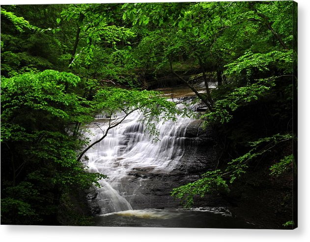 Cleveland Acrylic Print featuring the photograph Chair Factory Falls by Tina Karle