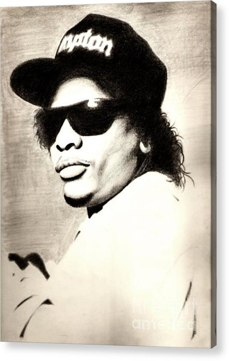 Eazy E Acrylic Print featuring the drawing Eazy-e by Sam Miller