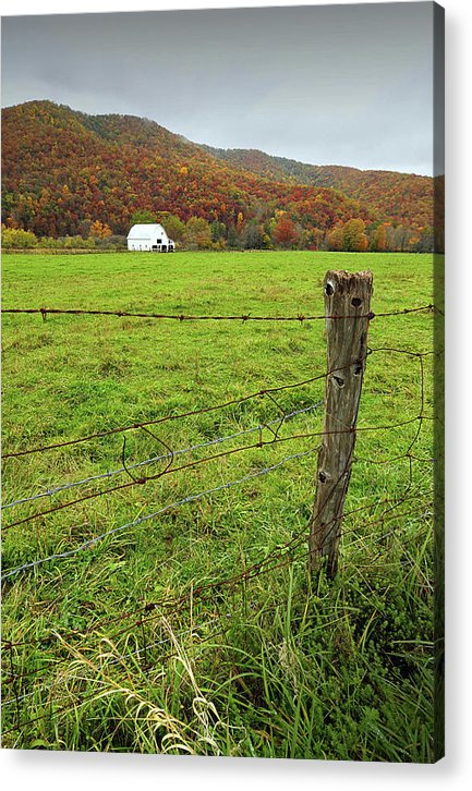 Farm Acrylic Print featuring the photograph Farm Fence by Mark Dottle