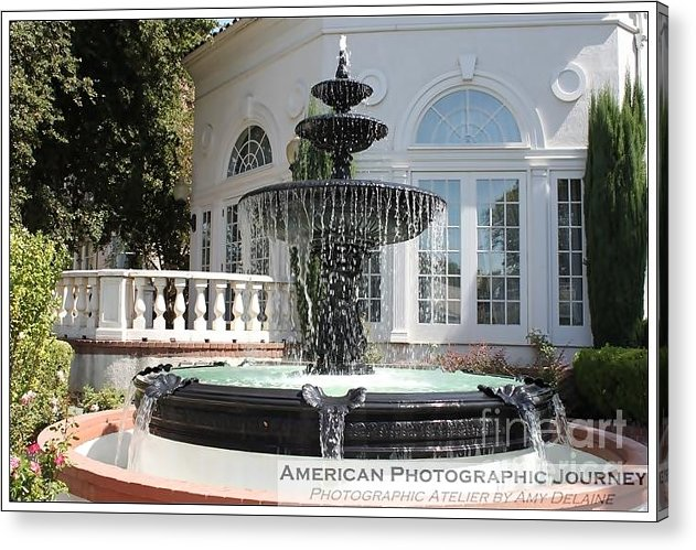 Acrylic Print featuring the photograph Fountains Of Love by Amy Delaine