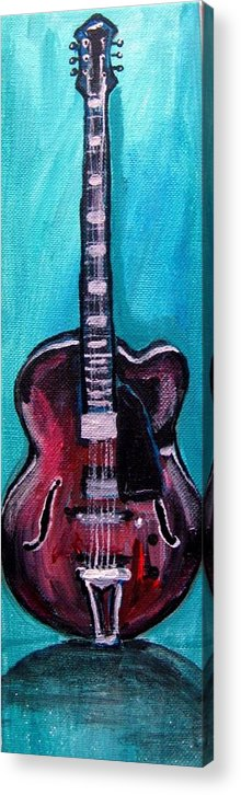 Guitar 2 Acrylic Print featuring the painting Guitar 2 by Amanda Dinan