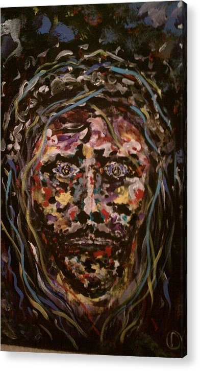 Painting Of Jesus;painting Of Christ;jesus Painting;religous Painting;abstract Painting;jesus;religious Art; Abstract Art; Original Painting Of Jesus Acrylic Print featuring the painting Jesus Christ by David Nagel