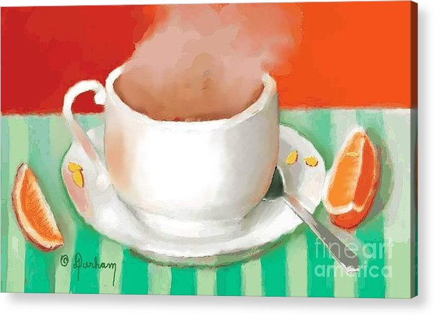 Cup Acrylic Print featuring the digital art Morning Coffee by Dessie Durham