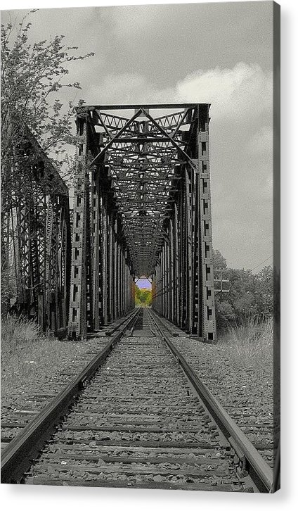 Bridge Acrylic Print featuring the photograph Next Stop...reality by Claude Oesterreicher