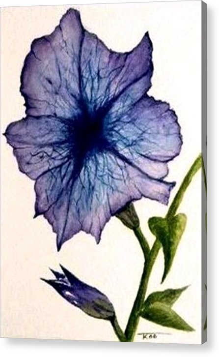 Petunia Acrylic Print featuring the painting Petunia by Travis Kelley