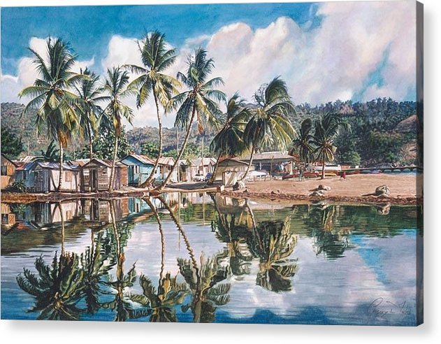 Landscape Acrylic Print featuring the painting Reflections by Gregory Jules