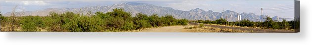 Arizona Acrylic Print featuring the photograph South Central Arizona Stitch by Mark Caldwell