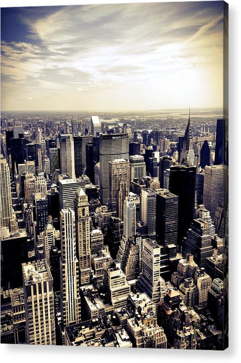 New York City Acrylic Print featuring the photograph The Chrysler Building and Skyscrapers of New York City by Vivienne Gucwa